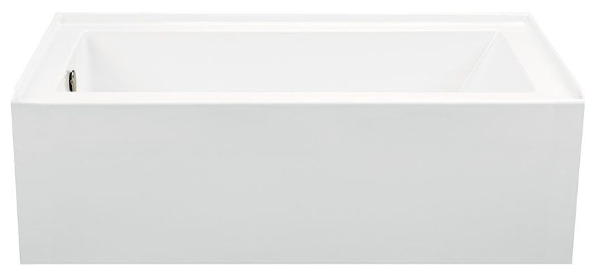 """QMBSISC6030A-LHW MTI BASICS 60""""X30"""" LH WHT ACRY AFR IFS TUB W/ APRON"""