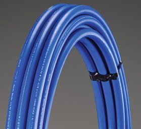"""95.104-400 1"""" X 400' 250# IPS SIDR-7 ULTRA-PURE BLK POLY-PIPE SILVERLINE"""