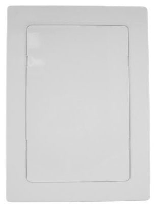 "Jones Stephens Access Panel, 14"" x 14"", High Impact White ABS, Snap-Ease"
