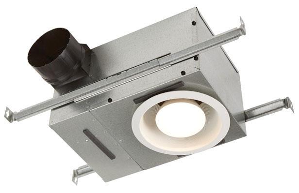 Broan Ventilation Fan and Light, 120 V, 1.2 A, 75 W Incandescent, 70 CFM, 1.5 Sones, White Grill, Ceiling