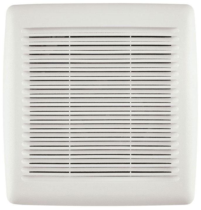"""Broan Bathroom Exhaust Fan, 9-1/4"""" x 10"""" x 5-3/4"""", 120 V, 0.3 A, 23.4 W, 110 CFM, 1 Sones, Wall"""