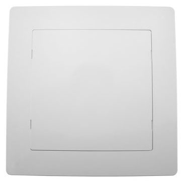 "Jones Stephens Access Panel, 8"" x 8"", High Impact White ABS, Snap-Ease"