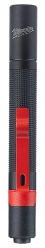 "Milwaukee Tool Penlight with AAA Power Battery, 5.39"" x 0.65"" x 0.65"", AAA, Aluminum, 2 Battery, 100 Lumen, Cordless, IP67 Enclosure, Waterproof, Dustproof"