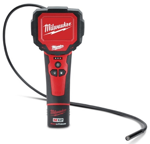 Milwaukee Tool M12™, M-SPECTOR 360™ Inspection Scope Kit, 12 V, 270D Rotating LCD Display, Digital