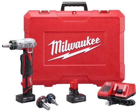 "Milwaukee Tool M12™, ProPEX® Expansion Tool Kit, 12 V, 3/8 to 1"" Capacity, 60 SPM, Cordless"