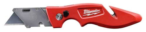 "Milwaukee Tool FASTBACK™ Utility Knife, 7-1/4"" L, Metal Blade, Press and Flip"