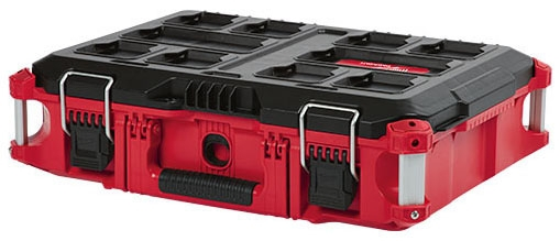 "Milwaukee Tool PACKOUT™ Tool Box, 22.1"" x 16.1"" x 6.6"", Polymer, Heavy Duty, Reinforced Hinge"
