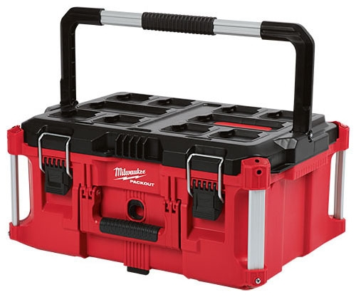 "Milwaukee Tool PACKOUT™ Tool Box, 22.1"" x 16.1"" x 11.3"", Polymer, Heavy Duty, Reinforced Hinge"