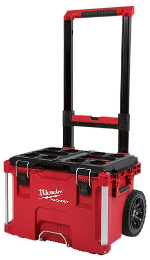 "Milwaukee Tool PACKOUT™ Tool Box, 18.6"" x 22.1"" x 25.6"", Polymer, Heavy Duty, Reinforced Hinge"