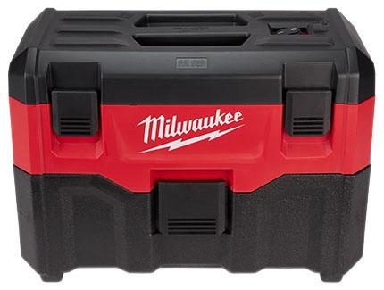 "Milwaukee Tool M18™ Vacuum Cleaner, 16.92"" x 8.46"" x 2.12"", 18 V, 2 Gallon, 45 CFM, Cordless, Wet/Dry"