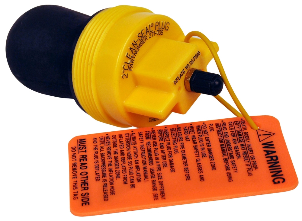 "Cherne Clean-Seal® Pipe Plug, 2"", 13 PSI, Natural Rubber, Pneumatic"