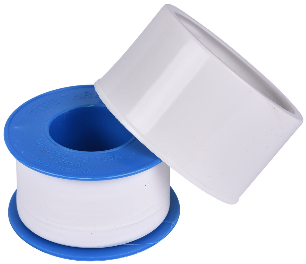 "Hercules Pipe Joint Tape, 1"" x 520"" x 3 Mil, 10000 PSI, White, TFE"