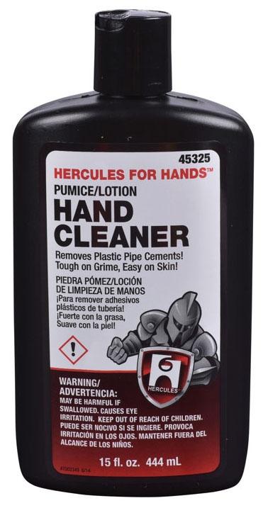 Hercules Hand Cleaner, 15 Fl Oz, Bottle, White, Liquid