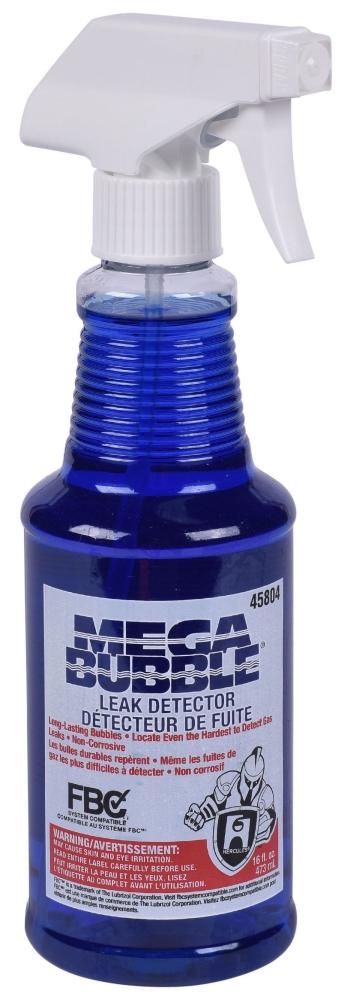 Hercules Megabubble® Leak Detector, 16 Oz, Bottle, Blue, Liquid, Bubble Solution, Gas