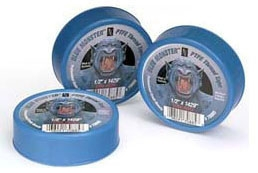 "Clean-Fit Blue Monster® Thread Sealing Tape, 3/4"" x 1429"" x 0.0035"", 10000 PSI, Blue, PTFE"