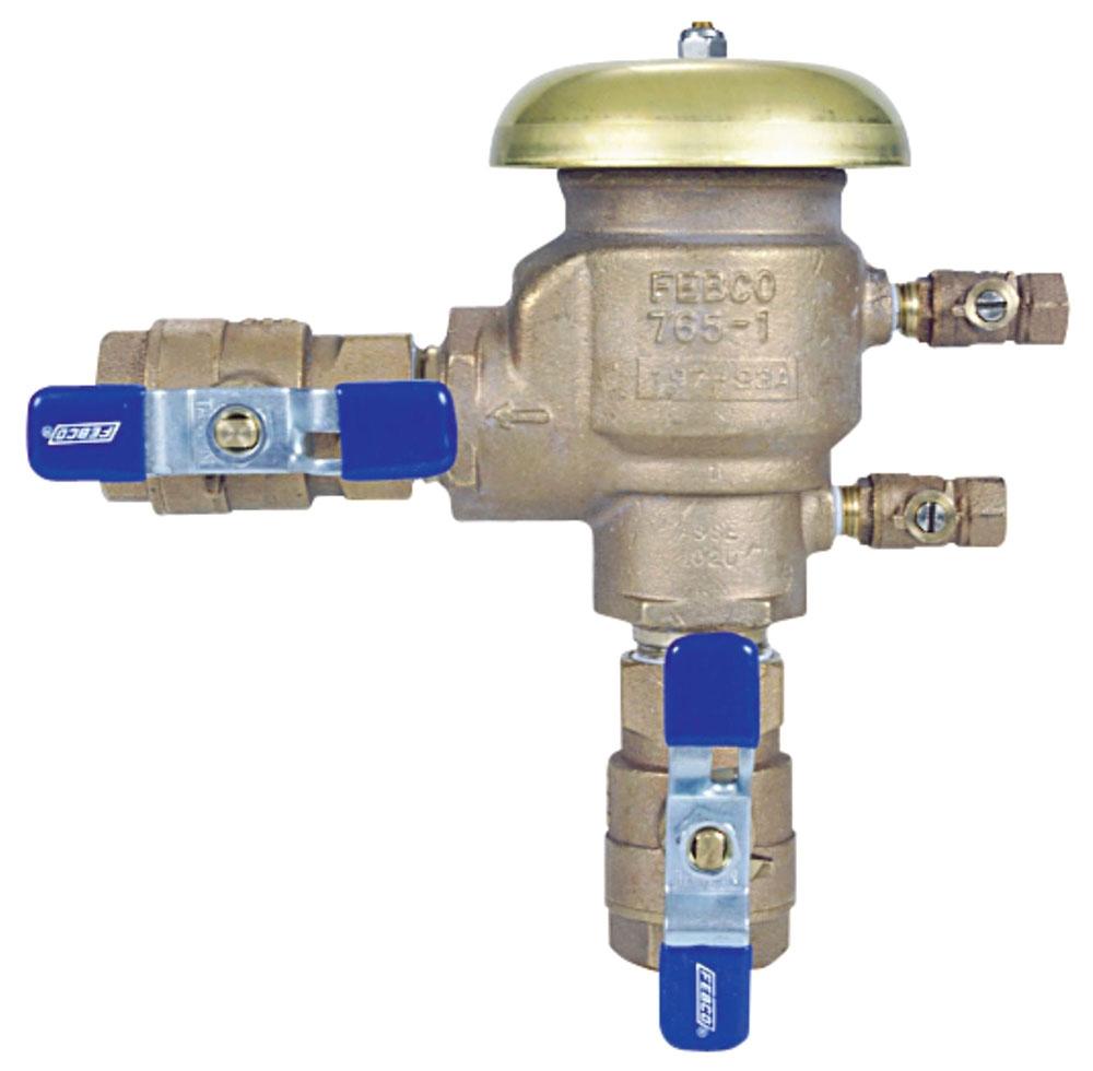 """Febco Pressure Vacuum Breaker, 3/4"""", FPT x FPT, 150 PSI, Bronze"""
