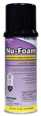 Nu-Calgon Nu-Foam® Nu-Foam® Air Conditioning/Refrigeration Sealant, 12 Oz, Can, Amber, Polyurethane/Pre-Polymer, Aerosol, Double Expansion, Insulating