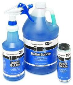 RectorSeal Better Bubble™ Leak Detector, 8 Oz, Dauber Top Bottle, Blue, Liquid, Bubble Solution, Gas