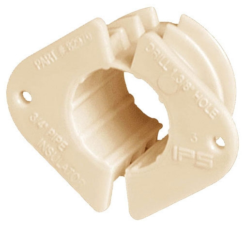 """Water-Tite 1/2"""" Plastic Pipe Insulator, 1-Piece, 2-Hole, CTS"""