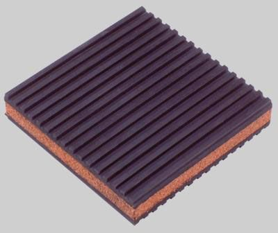 "DiversiTech Rubber/Cork  Anti-Vibration Pad - 4"" x 4"" x  7/8"""