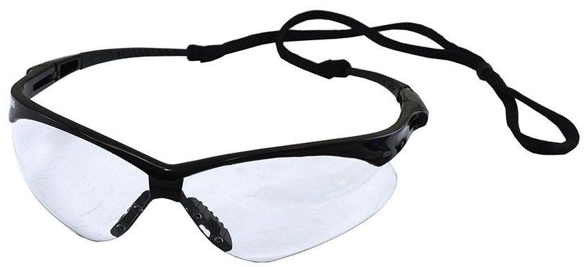 Jones Stephens Nemesis® Safety Glasses, Clear Lens, Wrap Around