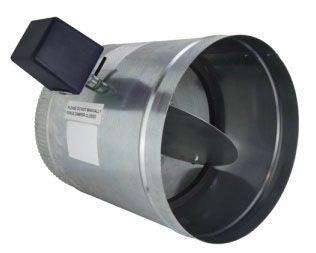 "iO HVAC Controls D-04 Round 4"" Zone Damper, 2 Wire, 24V, PC/SO"