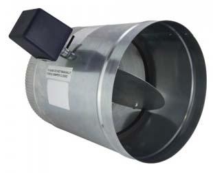 "iO HVAC Controls D-16 Round 16"" Zone Damper, 2 Wire,24V, PC/SO"