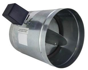 "iO HVAC Controls D-18 Round 18"" Zone Damper, 2 Wire,24V, PC/SO"