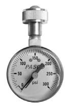 """Pasco Specialty 3/4"""" FHT, 0 to 160 PSI, Lazy Hand, Water Test Pressure Gauge 2279076"""