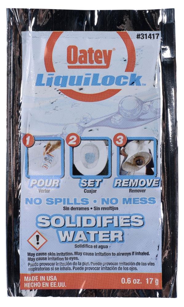 Hercules Liquilock™ White Toilet Cleaner, 0.6 Oz Packet, Gel