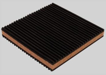 "DiversiTech Rubber/Cork  Anti-Vibration Pad - 6"" x 6"" x"