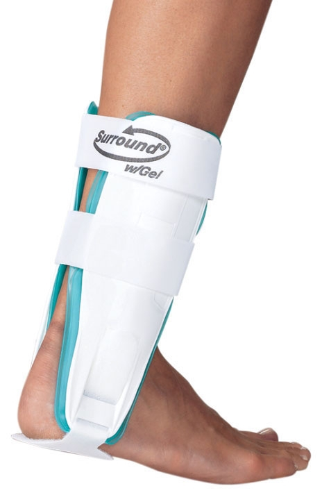 """DJO 7997867 10"""" H, Rigid Thermoplastic Shell, Large, PROCARE SURROUND Gel Ankle with Adjustable Heel Strap"""