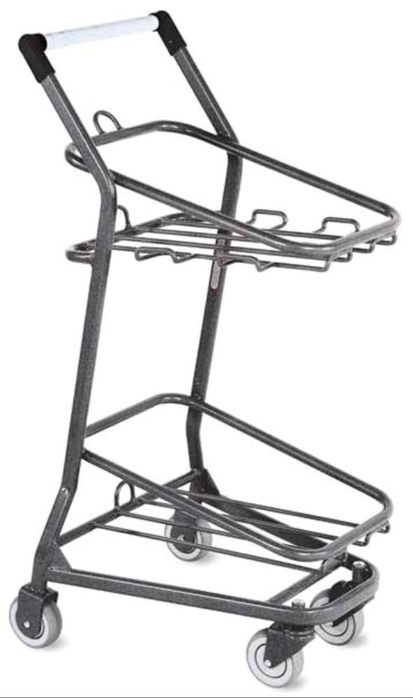 "MKL ML0989 21.75"" x 19.5"" x 41.25"", Powder Coated, Steel, Phlebotomy Cart, RediCart Double Basket Cart (1 per Pack)"