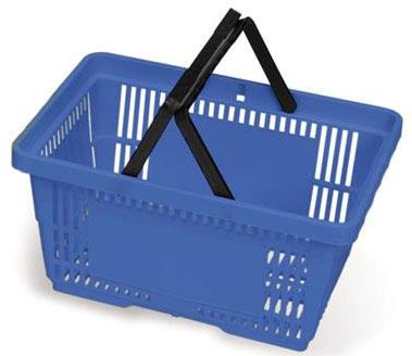 "MKL ML0990BL 19.25"" x 13.25"" x 10"", Blue, Polypropylene, Handled, Non-Collapsible, RediCart Phlebotomy Cart Basket (2 per Pack)"