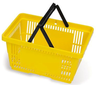 "MKL ML0990YL 19.25"" x 13.25"" x 10"", Yellow, Polypropylene, Handled, Non-Collapsible, RediCart Phlebotomy Cart Basket (2 per Pack)"