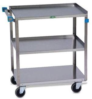 """MKL ML14431 27"""" x 18"""" Inner, 31"""" x 19"""" x 32"""" Outer, Stainless Steel, Medium Duty, Utility Cart (1 per Pack)"""