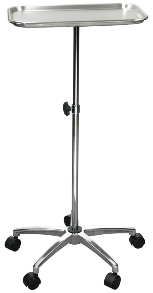 """DMD 13071 19"""" x 13"""", 21"""" x 21"""" Base, Mayo-Instrument Stand with Stainless Steel Tray"""