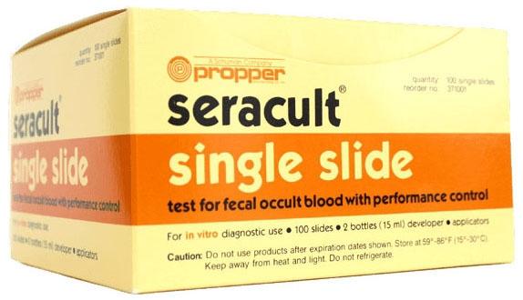 PPR 37100100 (2) 15 ML Bottle, Fecal Occult Seracult Blood Testing Single Slide (100 per Box)