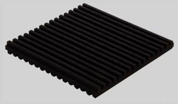"DiversiTech Rubber  Anti-Vibration pad - 6"" x 6"" x  3/8"""
