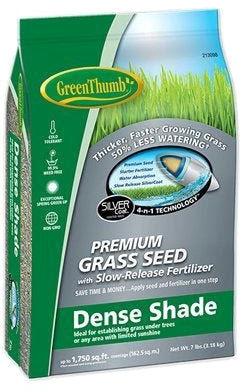 213098 GREUN185 7 LB GREEN THUMB DENSE SHADE SEED