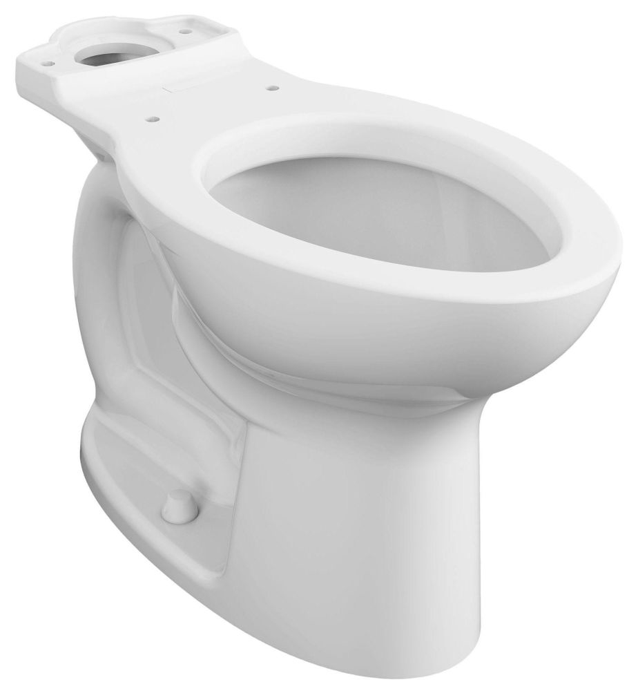 """American Standard TRIANGLE CADET®, PRO™, RIGHT HEIGHT® Toilet Bowl, 18-1/2"""" x 14"""" x 16-1/2"""", 12"""" Rough-In, 1.28 GPF, White, Vitreous China, Floor Mount, Elongated"""