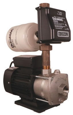 "A.Y. McDonald DuraMAC™ Booster Pump, 1"" x 1"", 3/4 HP, 120 VAC 60 Hz, 7A, 20 GPM, 52 PSI, 301 Stainless Steel"
