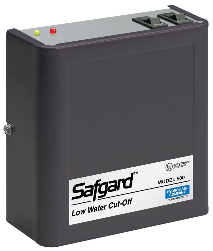Hydrolevel Safgard™ Boiler Low Water Cut-Off with Manual Reset, 120 VAC 60 Hz, 4 VA, 160 PSI, SPDT, Water Media
