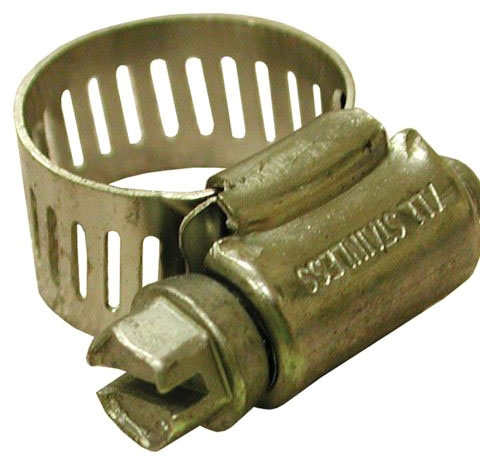 "Jones Stephens 1-1/8 to 3"" Diameter Stainless Steel Gear Clamp, Full Size"