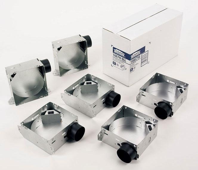 "Broan Housing Pack for 1670F/1671F/1688F/1689F Ventilation Fan, 7-1/4"" x 7-1/2"" x 3-5/8"", 3"" Diameter Duct, 120 V, 0.3 Sones"