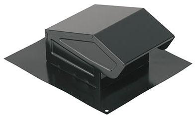 "Broan Ventilation Fan Duct Roof Cap, 3"" or 4"" Diameter, 24 Gauge Black Electrically Bonded Epoxy Coated Steel, Round"