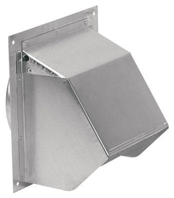 "Broan Ventilation Fan Duct Wall Cap, 6"", Natural Aluminum, Round"