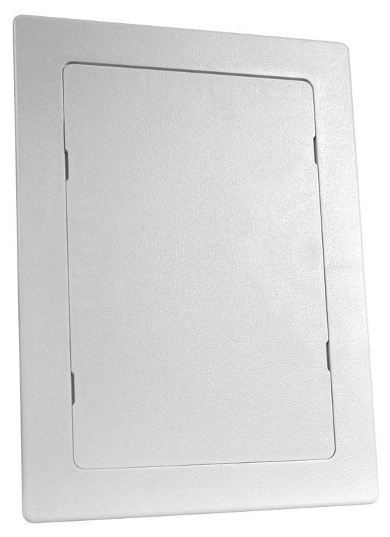 "Oatey ACCESS ABLE® Access Panel, 6"" x 9"", White, High Impact Polystyrene, Screwdriver Operated Latch, Flush/Surface Mount, Straight Line"