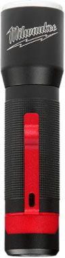 """Milwaukee Tool Focusing Flashlight, 5.39"""" x 0.65"""" x 0.65"""", 325/25 Lumen, Cordless, Aluminum, (3) AAA Battery, Water/Dustproof"""