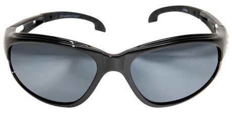 Edge Safety Eyewear Dakura Safety Glasses, Silver Mirror Lens, Gloss Black, Nylon Frame, Non-Polarized